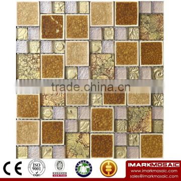 IMARK Mosaic by Electroplated Coated Mosaic Tiles,Gold Foil Mosaic Tiles and Burst Of Crystal Ceramic Mosaic Tiles CodeIXGM8-074