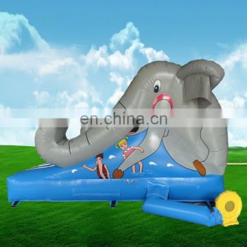 Commercial elephant theme inflatable outdoor playground dry slide equipment inflatables slides children games toys