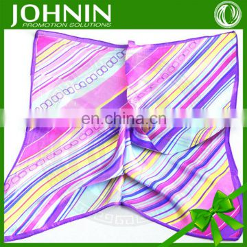 100% Silk colorful Square custom Women's Bandana