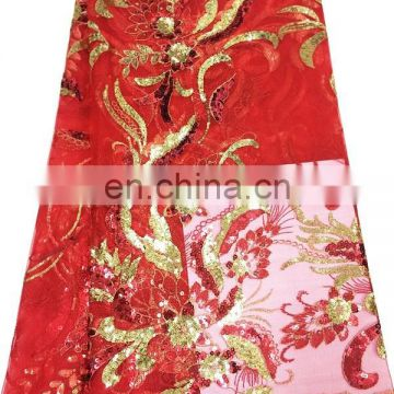 red afracian dry lace fabric tokay lace