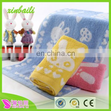 wholesale 100% cotton towels lovely animal baby towels and soft children face towels