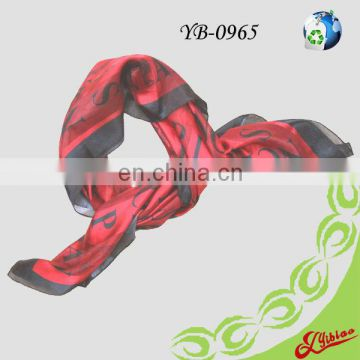 2016 Printing Square Satin Georgette Scarf For France