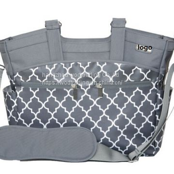 printed shoulder style diaper bags with tote handle