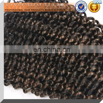 2015 Hot Sale Factory Cheap Price Two Tone Colored Kinky Curly Hair, High Quality Colored Kinky Curly Brazilian Hair