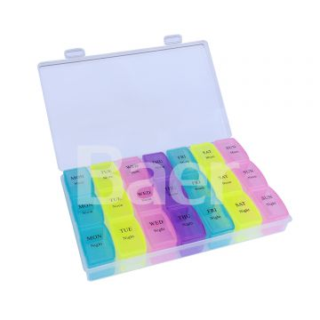 Four Times a Day Dosing Box Pill Storage Cases