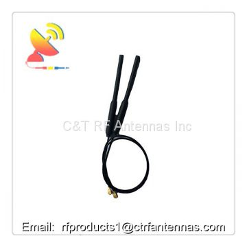 Vertical polarization copper tube rg1.13 cable w/u.fl connector FPV wifi antenna RF antenna for UAV drone