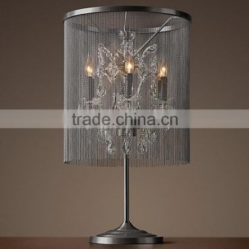 Luxury Classic Crystal Desk Lamp LED Reading Table Light Lighting for Home Hotel Decorating TL007