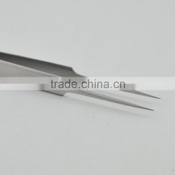 NEW ULTRA FINE POINTS TWEEZERS SET NEEDLE NOSE TWEEZER WITH 45 DEGREE ANGLE CURVED TIP TWEEZER MADE HIGH QUALITY STAINLESS STEEL