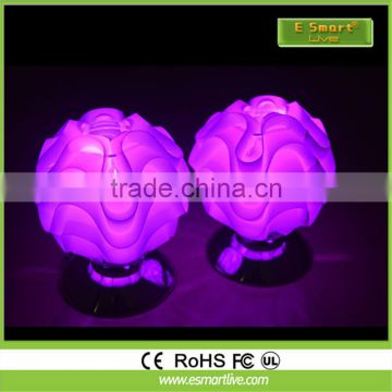 RGB colors changing pe plastic RGB colors changing small led table lamp for home restaurant