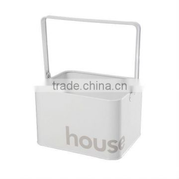 metal Laundry Box with corner word house