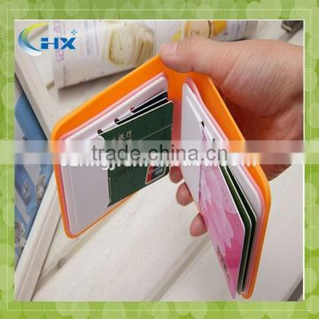 Wholesale candy color silicone wallet for card holder