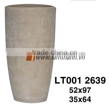 Circular Simple Dark Terracotta Planter For Wholesalers