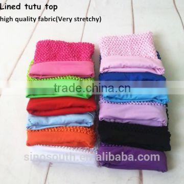 9inch Wholesale Crochet Tube Top Lined Tutu Top Of Tutu Top And Tutu