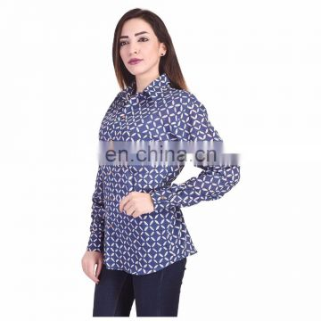Indigo Blue Top Hand Block Print Women's Tunic Shirt Soft Cotton Dress Kurti