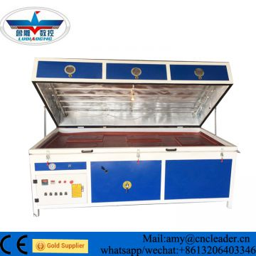 Semi auto  PVC film vacuum heat membrane  press machine for wood cabinet