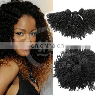 mongolian kinky twists hair afro kinky human virgin hair extension from china manufacture
