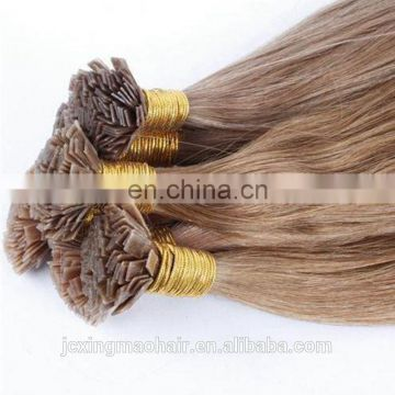 High quality Hot Selling virgin human 100% brazilian hair natural color made in china i tip hair extension