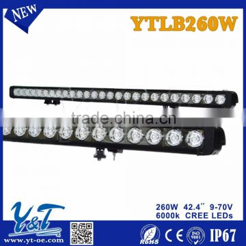 42.4inch 260Wled offroad light bar, atv parts, spot beam or flood beam mini 42.4 inch led light bar