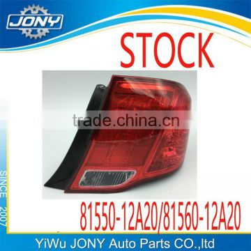 auto accessories stock selling good quality tail lamp for toyota corolla axio 212-19p7 OEM 81550-12A20 81560-12A20