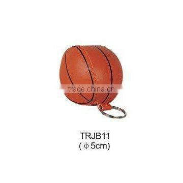 Promotional soft PVC basketball keychain
