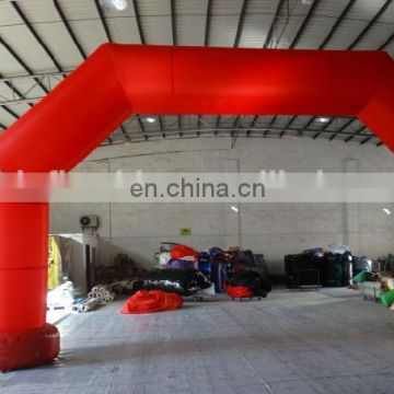 Red Advertising Inflatable Arch with bigger feet and customized Velcro banner