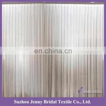 BCK125A fancy church backdrop decoration white pleated chiffon backdrop photography