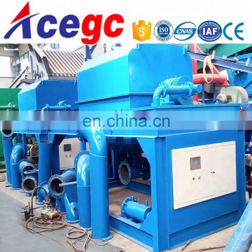 Big capacity 10-120t/h automatic discharge gold washing separating and refining concentrator machine