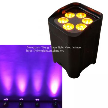 china cheap 6X18W RGBWA+UV 6in1 led uplight,battery powered led par64 for wedding,dj entertainment stage lighting,par led dmx