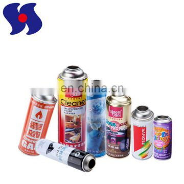 White Coating Aerosol Spray Metal Can Custom Size for Car Care Products