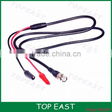 BNC revolution double clip test line 0.5 meters turn oscilloscope cable Q9 monitor accessories line double alligator clip