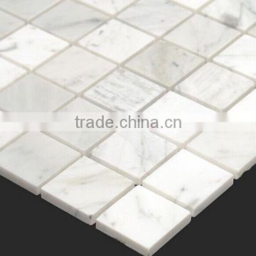 carrara white 12in.x12in. polished square mosaic floor/ wall tile                                                                                                         Supplier's Choice
