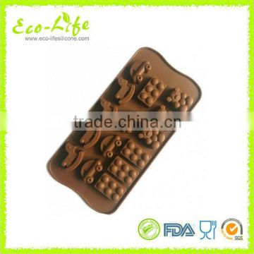 cockhorse bear brick cars Silicone Chocolate Mold, Cute Silicone Ice Cube Tray Freeze Ice Maker