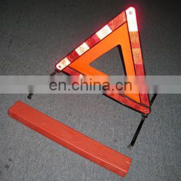 red warning triangle with PVC
