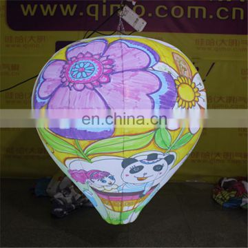 2017 hot sale customized hanging out of shape scrawl balloon with LED light for sale