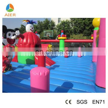2016 good quality CE certificated inflatable bouncy play combo/luxury giant inflatable fun city