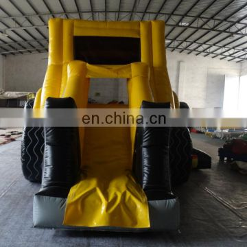 Commercial grade inflatable digger combo with slide for entertainment