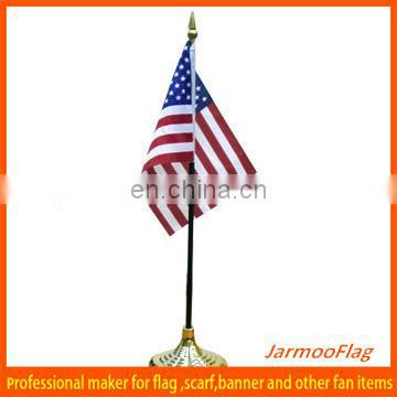 USA table flag with stand