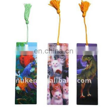 Wholesale price animation effect 3d animal design custom bookmarks with tassels