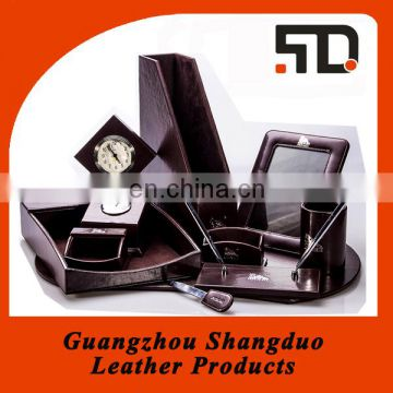 Quality Suppliers Stationery Set Custom Office Desk Set Leather