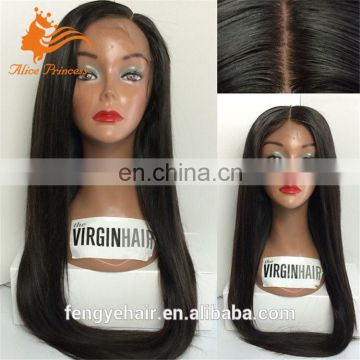 spring hot sale silk straight human virgin full lace hair wig with best quality