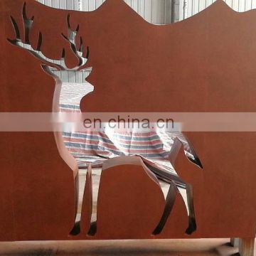 Colored Cheapest Exterior Decorative Corten Steel 3d Wall Panels