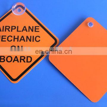 AIRPLANE MECHANIC ON BOARD Sucker Car Sticker Door Hanger