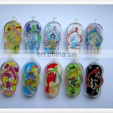 Shoe shape with custom design card inserted Acrylic keychain