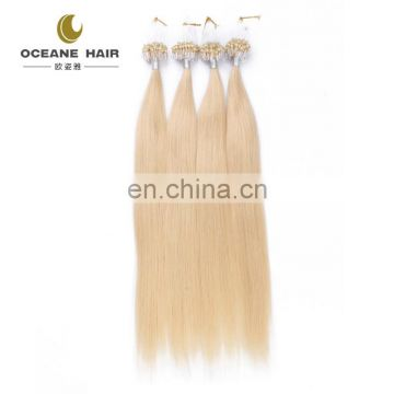brazilian hair virgin high quality most popular micro loop ring blonde hair extension