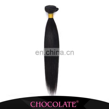 Chocolate hair gold straight virgin human hair weave hot selling in Nigeria