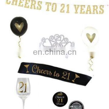 happy birthday party cheers to 21st years 21st birthday kit