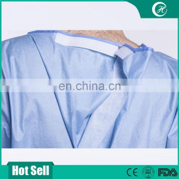 Standard Disposable Spunlace Surgical Gowns/Reinforced Hospital Operating Theatre Gown/Medical