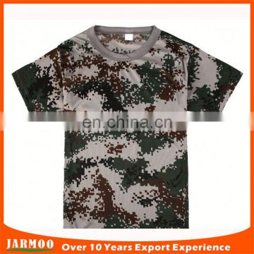 Low moq all size cool camouflage t shirt