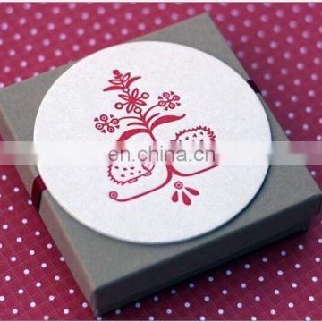 Factory direct custom absorbent paper coasters