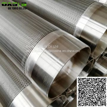 Beveled wedge wire water well screen pipe continuous slot wire wrapped screens